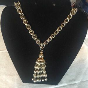 Monet Goldtone Tassel Long Necklace